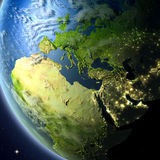 Región del EMEA de la órbita stock de ilustración