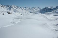 Región superior Arlberg del esquí Fotografía de archivo libre de regalías