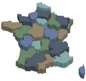 regiões 3d de france Imagem de Stock Royalty Free
