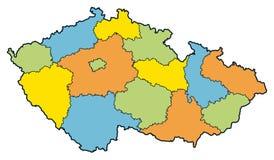 Regiões da república checa ilustração do vetor