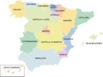 Regiões de Spain Ilustração do Vetor
