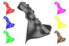 Regiões orientais de Arábia Saudita, reino da província de Arábia Saudita, ilustração do vetor do mapa de KSA, região oriental do ilustração royalty free