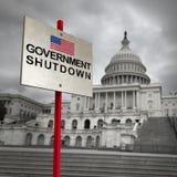 Regierung der Vereinigter Staatens-Abschaltung lizenzfreie abbildung