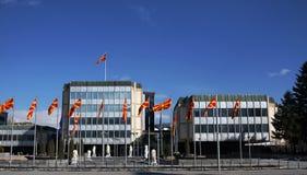Regierung des Republic Of Macedonia stockbild