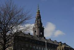 REGIERUNGS-GEBÄUDE CHISTIANSBORG CASTLE_DANISH Lizenzfreies Stockbild