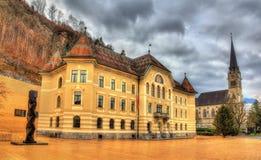 Regierungs-Gebäude in Vaduz Stockbilder