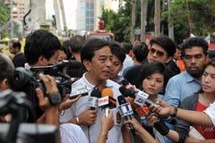 Regierungsbeamter gibt ein Interview Lizenzfreies Stockbild
