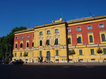 Regierungsbezirk, Tirana, Albanien lizenzfreie stockbilder