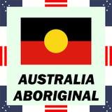 Regierungselemente von Australien - eingeborene Flagge vektor abbildung