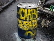 Regierungsfeindliche Proteste in der Mitte von Kiew Lizenzfreie Stockbilder