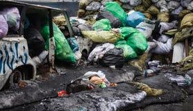 Regierungsfeindliche Proteste in der Mitte von Kiew Stockfotografie