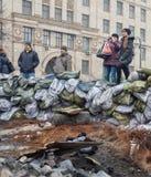 Regierungsfeindliche Proteste in der Mitte von Kiew Stockfotos