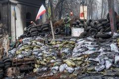 Regierungsfeindliche Proteste in der Mitte von Kiew Lizenzfreies Stockbild