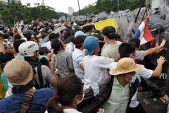 Regierungsfeindliche Sammlung in Bangkok Stockfotografie