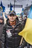 Regierungsfeindlicher Protest in Ukraine Stockbild