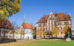 Regierungsgebäude am Domhof-Quadrat in Hildesheim Lizenzfreie Stockfotografie