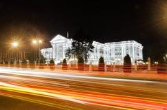 Regierungsgebäude in Skopje, Mazedonien stockfotos