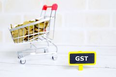 Regierungsservicesteuer GST Lizenzfreies Stockbild