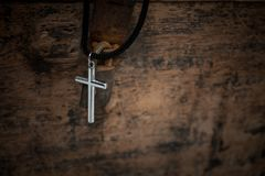 Regilion concept with cross object. christian background.  stock photos