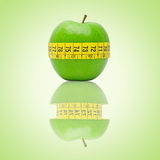 Regimen. Eat one apple every day is the best diet Royalty Free Stock Images