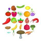 Regimen icons set, cartoon style. Regimen icons set. Cartoon set of 25 regimen vector icons for web isolated on white background Stock Image