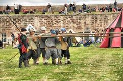 Regiment die van voet Snoekenboor doen royalty-vrije stock foto's