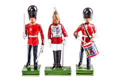Regiment of tin british guards Royalty Free Stock Photos