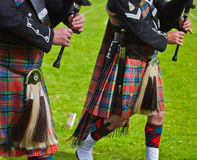 Regimental bagpipe players Royalty Free Stock Image