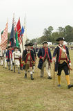 Regimental flag procession at the 225th Anniversary of the Victory at Yorktown, a reenactment of the siege of Yorktown, where Gene Stock Photo