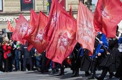 Regimento imortal em St Petersburg Fotografia de Stock Royalty Free