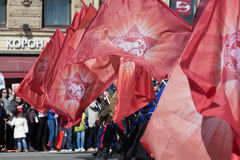Regimento imortal em St Petersburg Fotos de Stock