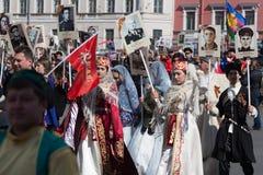 Regimento imortal em St Petersburg Imagem de Stock Royalty Free