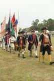Regiments vlagoptocht Royalty-vrije Stock Afbeelding