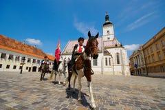 Regimiento de Kravat, Zagreb, Croacia fotografía de archivo libre de regalías