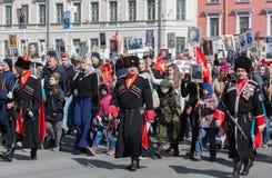 Regimiento inmortal en St Petersburg Fotos de archivo libres de regalías