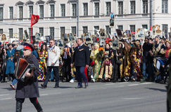 Regimiento inmortal en St Petersburg Fotografía de archivo