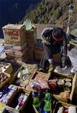 Región Nepal de Everest del mercado del bazar de Namche Foto de archivo