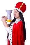 Regina con l'altoparlante Immagine Stock