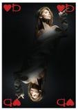 Regina dei cuori Fotografia Stock Libera da Diritti