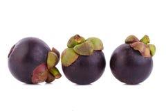 Regina dei frutti, frutta matura dei mangostani del mangostano isolata su w Immagini Stock Libere da Diritti