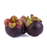 Regina dei frutti, frutta matura dei mangostani del mangostano su w Immagine Stock Libera da Diritti