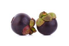 Regina dei frutti, frutta matura dei mangostani del mangostano su w Fotografia Stock