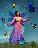Regina del Fairy della farfalla Fotografia Stock Libera da Diritti