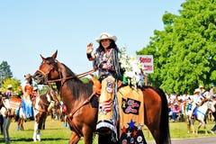 Regina del rodeo fotografie stock libere da diritti