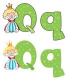 Regina della lettera Q Fotografia Stock