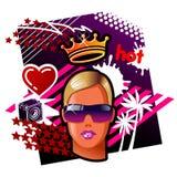 Regina della rave Fotografie Stock Libere da Diritti