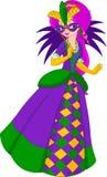 Regina di Mardi Gras illustrazione di stock