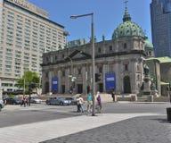Regina di Maria della cattedrale Montreal del mondo Immagine Stock