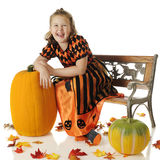 Regina di risata di Halloween Immagine Stock