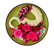 Regina di Rosa dei fiori e della ghirlanda immagine stock libera da diritti
